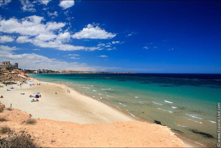 Песчаные пляжи Испании Коста Бланка Playa Mil Palmeras средиземное море